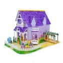 """""""Пазл""""3D Пурпурный домик для куклы"""