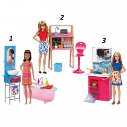 Barbie® Наборы мебели + кукла