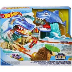 Hot Wheels® Сити Игровой набор «Схватка с акулой»