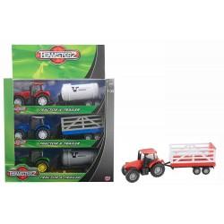Большой трактор и трейлер